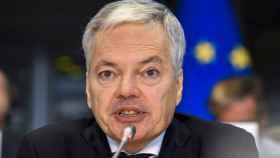 Didier Reynders, durante su examen oral ante la Eurocámara este miércoles en Bruselas