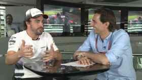 Fernando Alonso y Pedro de la Rosa