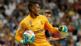 Areola, en un partido del Real Madrid en La Liga