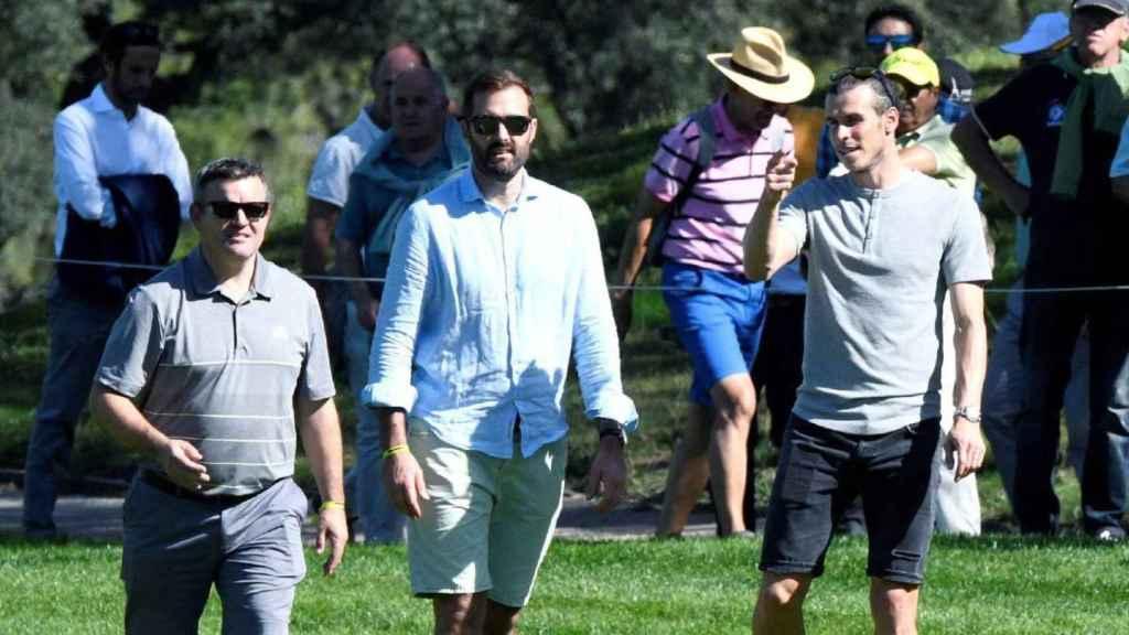 Gareth Bale, durante el campeonato de España de golf