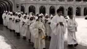 Ceremonia en la basílica del Valle de los Caídos./