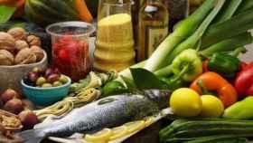 Algunos alimentos que integran la dieta mediterránea.
