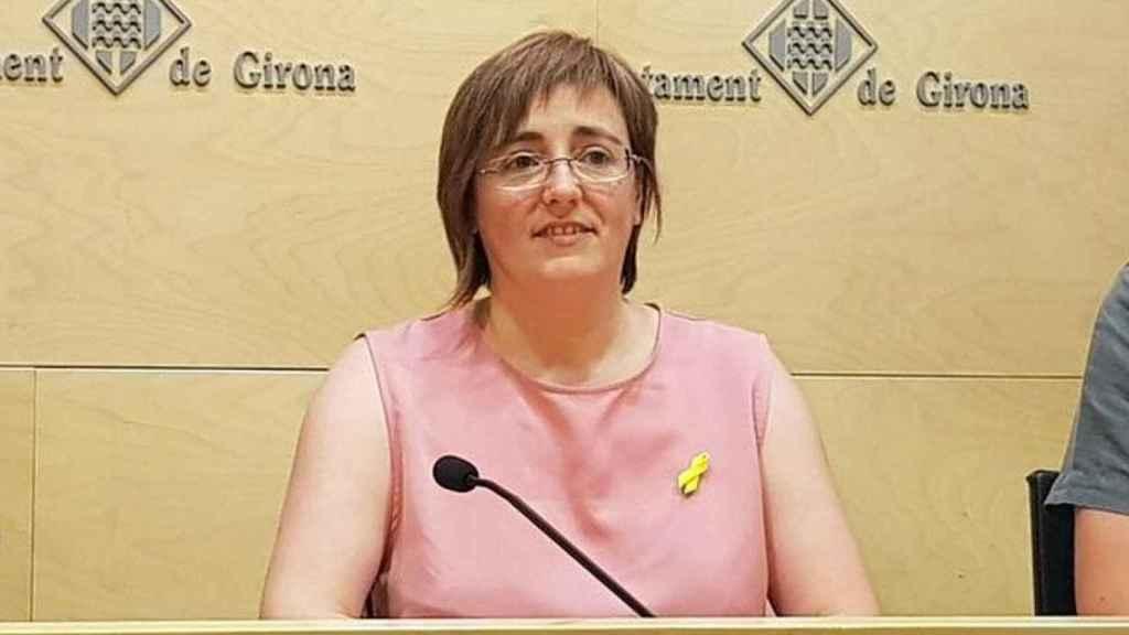 Anna Puigdemont en el Ayuntamiento de Girona.
