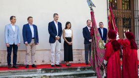 Los Reyes durante su visita a Orihuela.