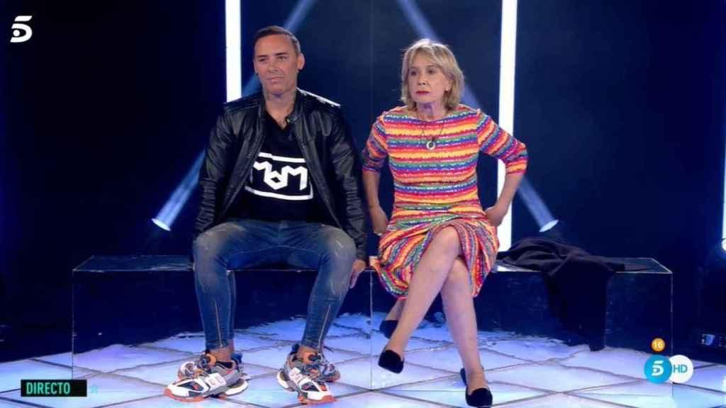 Mila Ximénez y Dinio García a punto de conocer el veredicto en 'Gran Hermano VIP'.