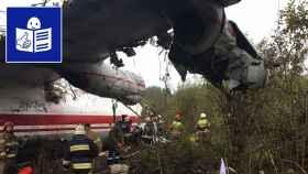 El avión que se estrelló en Ucrania.