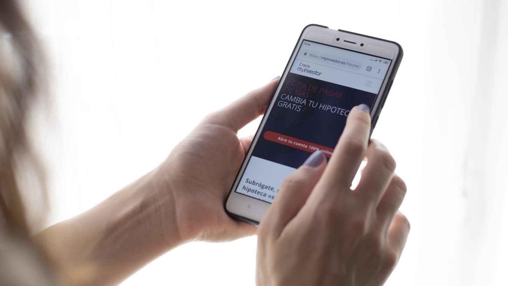 Gestión en MyInvestor a través del móvil.