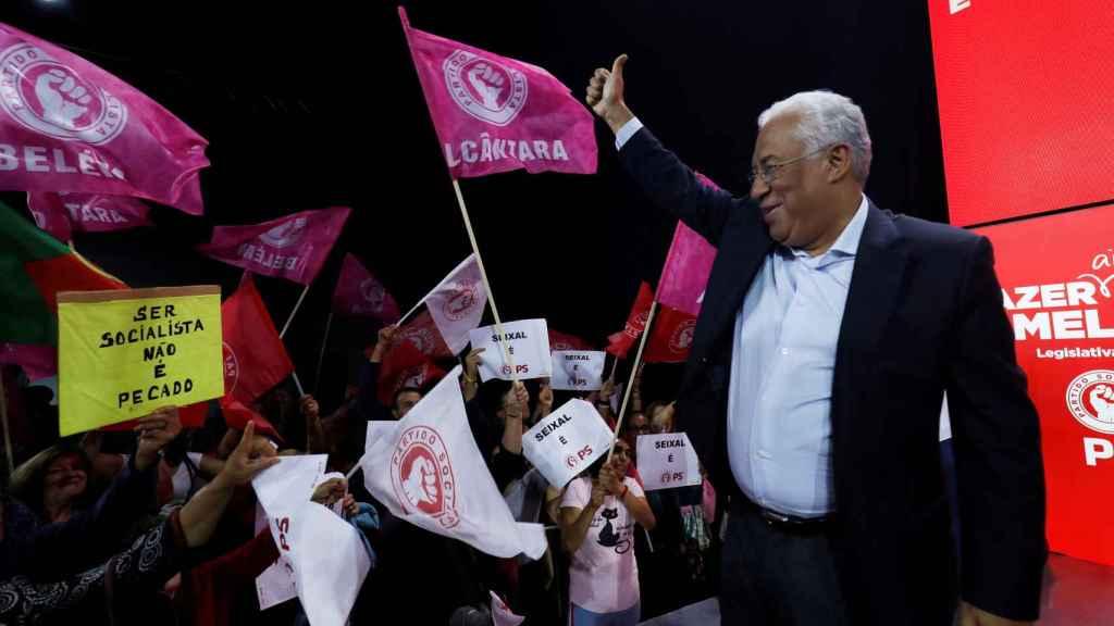 António Costa en un acto de campaña.