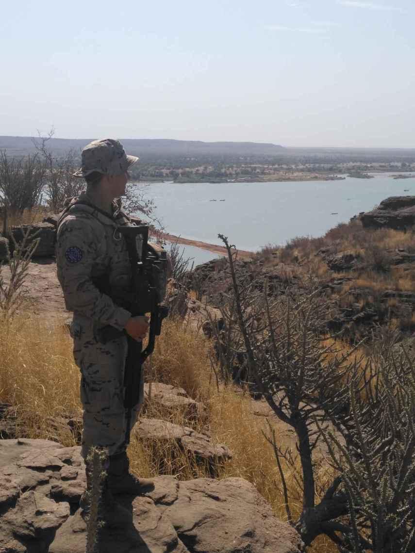 El soldado Daniel Gómez, en Mali.