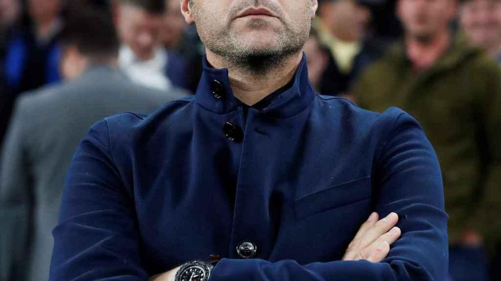 Pochettino, en un partido del Tottenham