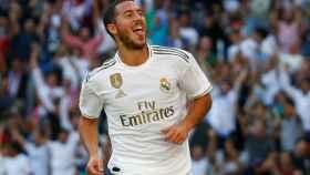 Eden Hazard celebra su gol al Granada