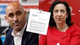 La carta enviada por el presidente de la Federación de Fútbol a la ministra de Defensa.