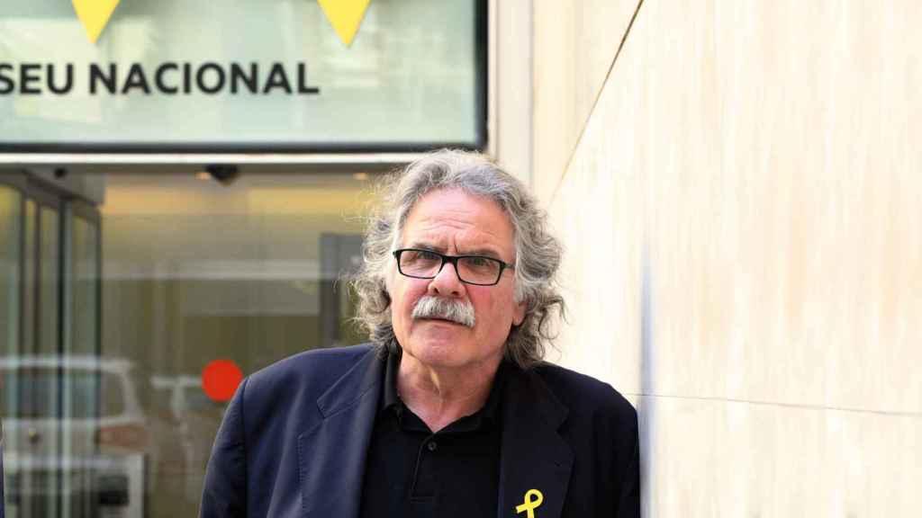 Joan Tardà, ex portavoz de ERC en el Congreso, este miércoles en la sede del partido en Barcelona.