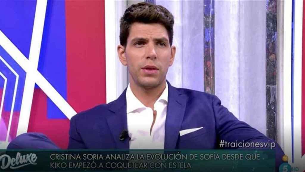 Diego Matamoros durante su entrevista en Telecinco, visiblemente enfadado.