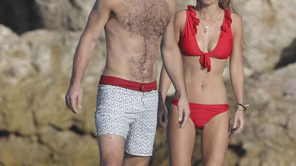 James y Alizee Thevenet durante sus vacaciones de este año.