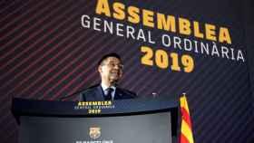 Bartomeu en la Asamblea de Socios del Barça 2019.