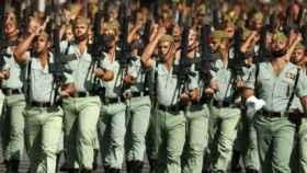 Legionarios durante un desfile./