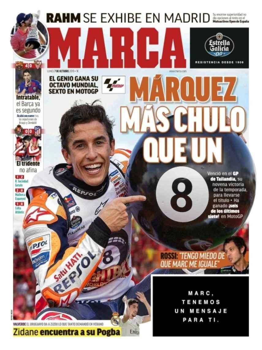 La portada del diario MARCA (07/10/2019)