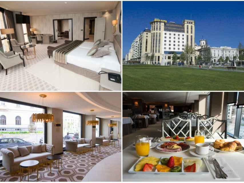 Algunas de las estancias del Hotel Bahía, en el que se ha alojado Carlota Corredera.