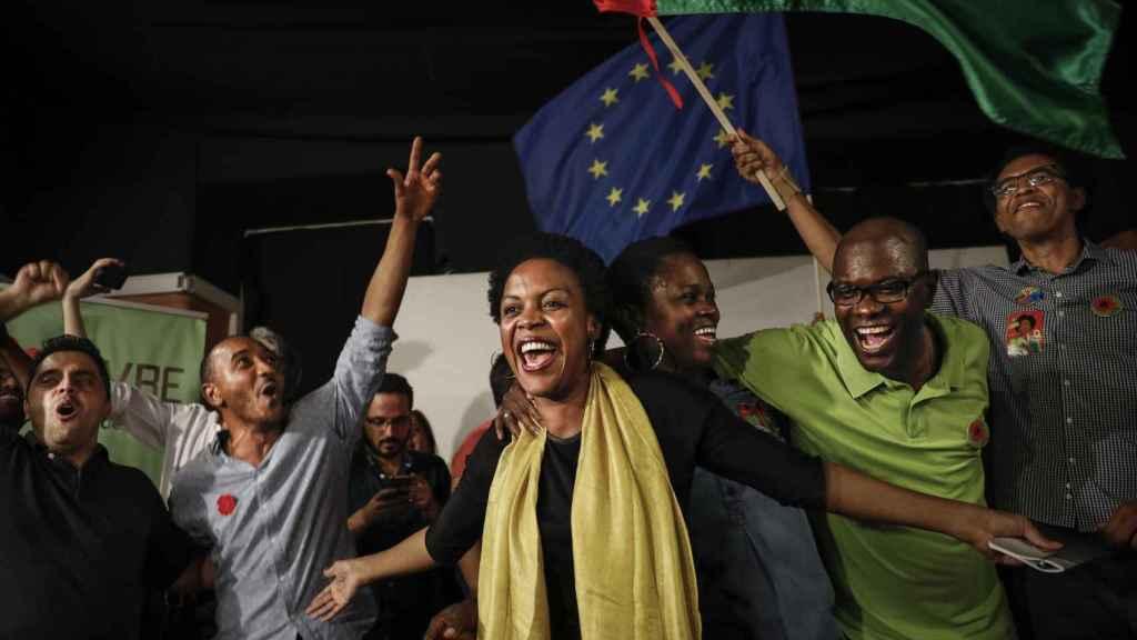 Joacine Katar Moreira, la nueva diputada del Parlamento portugués por el Livre.