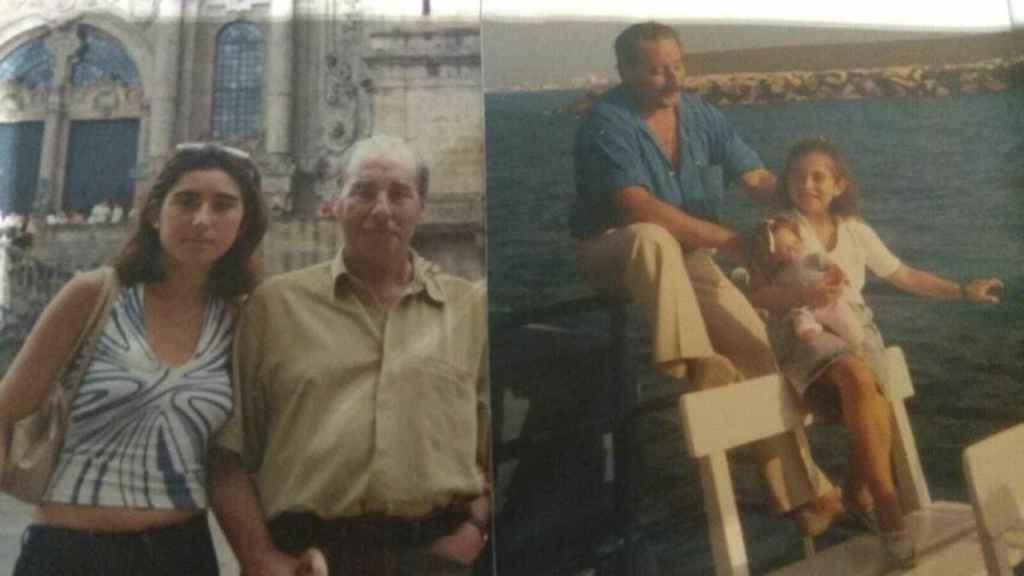 Paloma junto a su padre, tras su muerte Hacienda le reclamó 600.000 euros.