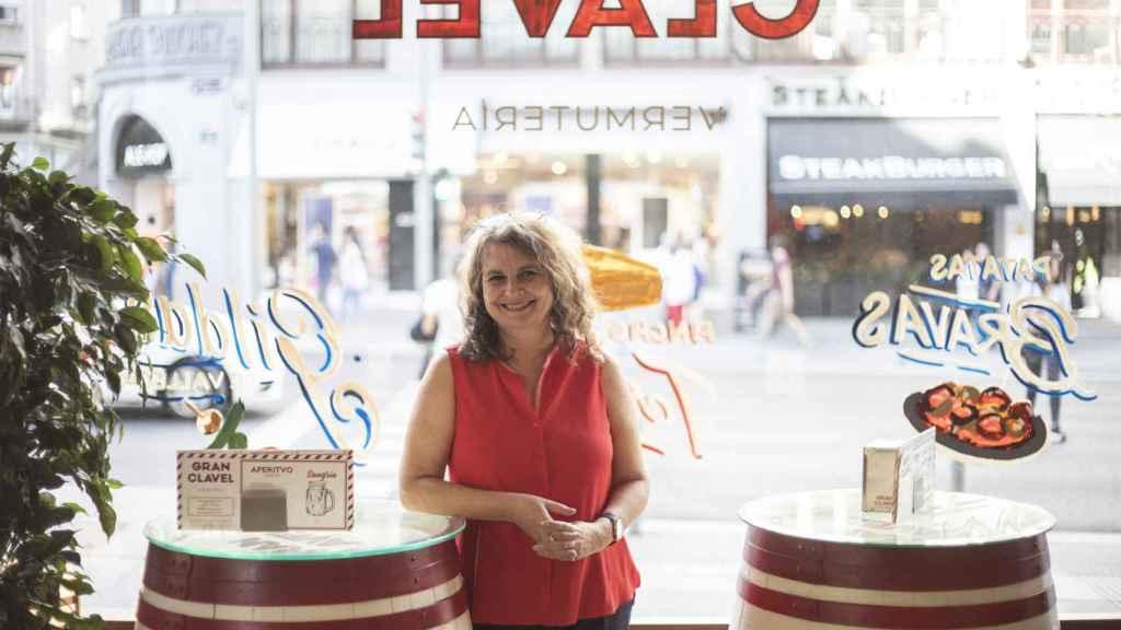 Elvira Roca, en la cafetería del Hotel de las Letras, en Madrid.