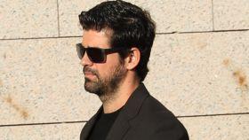 Miguel Ángel Muñoz llegando al funeral de José Sámano.