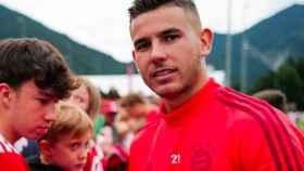 Lucas Hernández, con el Bayern Múnich