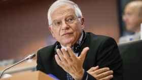 Josep Borrell, durante su examen oral en la Eurocámara