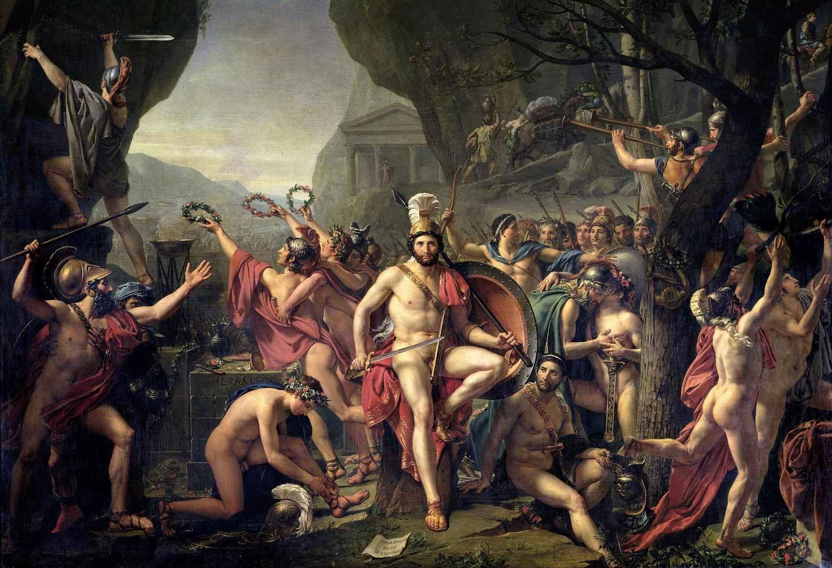 Leónidas en las Termópilas (1814).