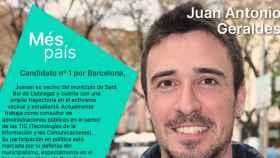 Geraldes, cabeza de cartel por Más País en Barcelona.