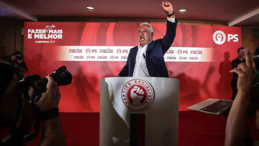 Antonio Costa, en la noche electoral