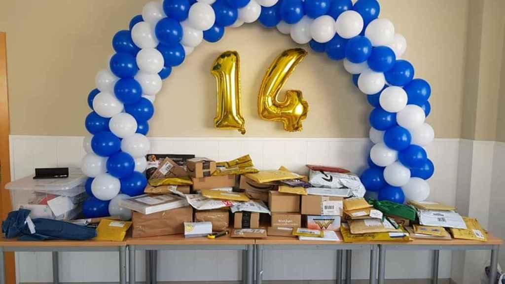 Los regalos de los forococheros esperaban a Rubén el día de su cumpleaños