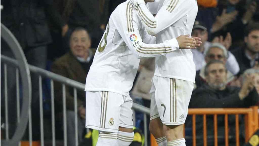 Jesé en el día de su debut con Cristiano Ronaldo