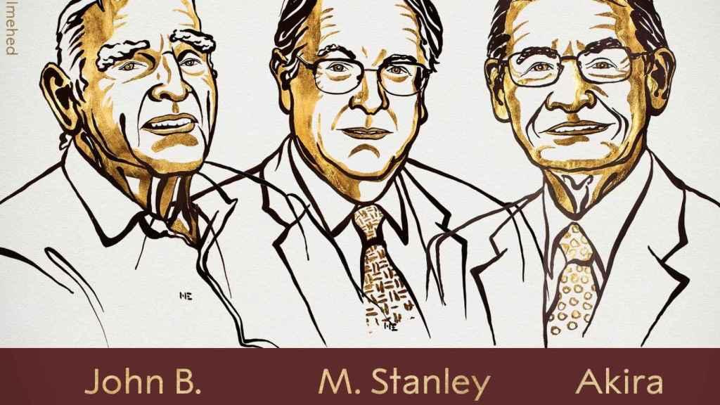 Los ganadores del Nobel de Química 2019.