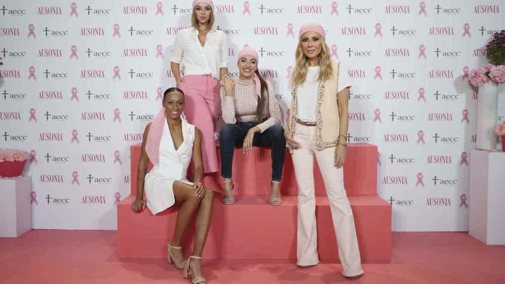 Las nuevas madrinas de la última campaña de Ausonia en su lucha contra el cáncer.