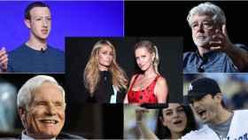 Paris y Nicky Hilton, Ted Tuner, Mark Zuckerberg y Ashton Kutcher y Mila Kunis.