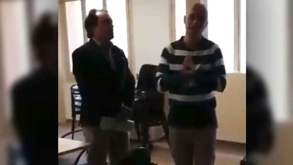 El escrache a un médico en un centro de Barcelona
