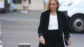 La expresidenta de la Comunidad de Madrid Cristina Cifuentes a su llegada esta tarde a la Audiencia Nacional.
