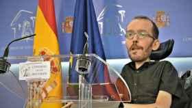 Pablo Echenique, en rueda de prensa en el Congreso.