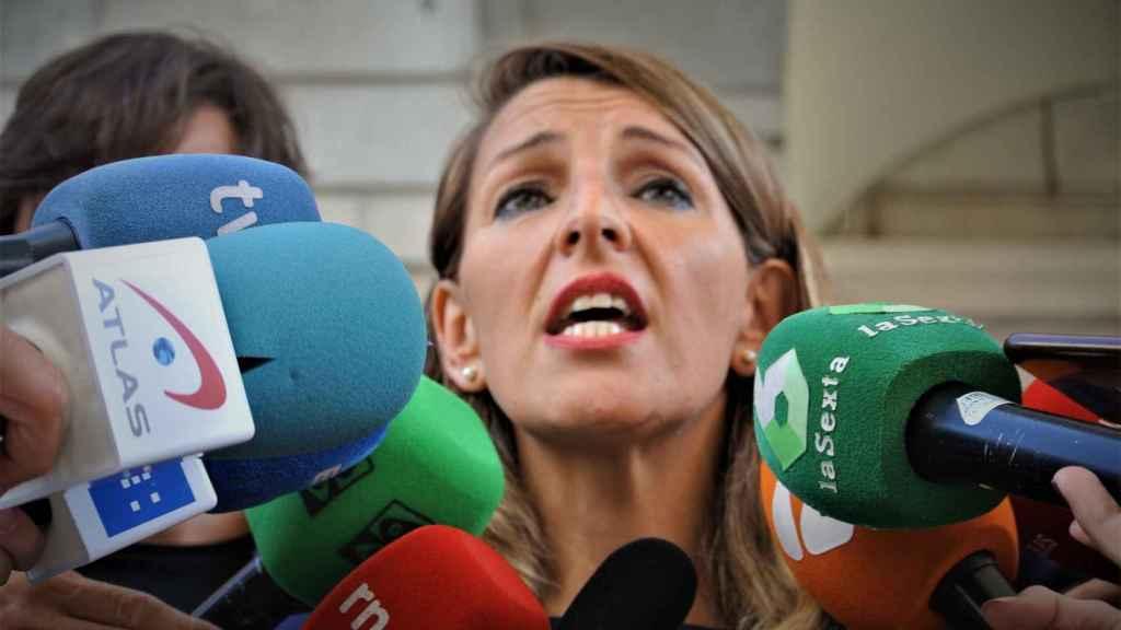 Yolanda Díaz, candidata a ministra de Trabajo de Unidas Podemos al Congreso.