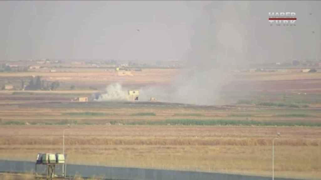 Primeras imágenes del bombardeo turco sobre Siria.
