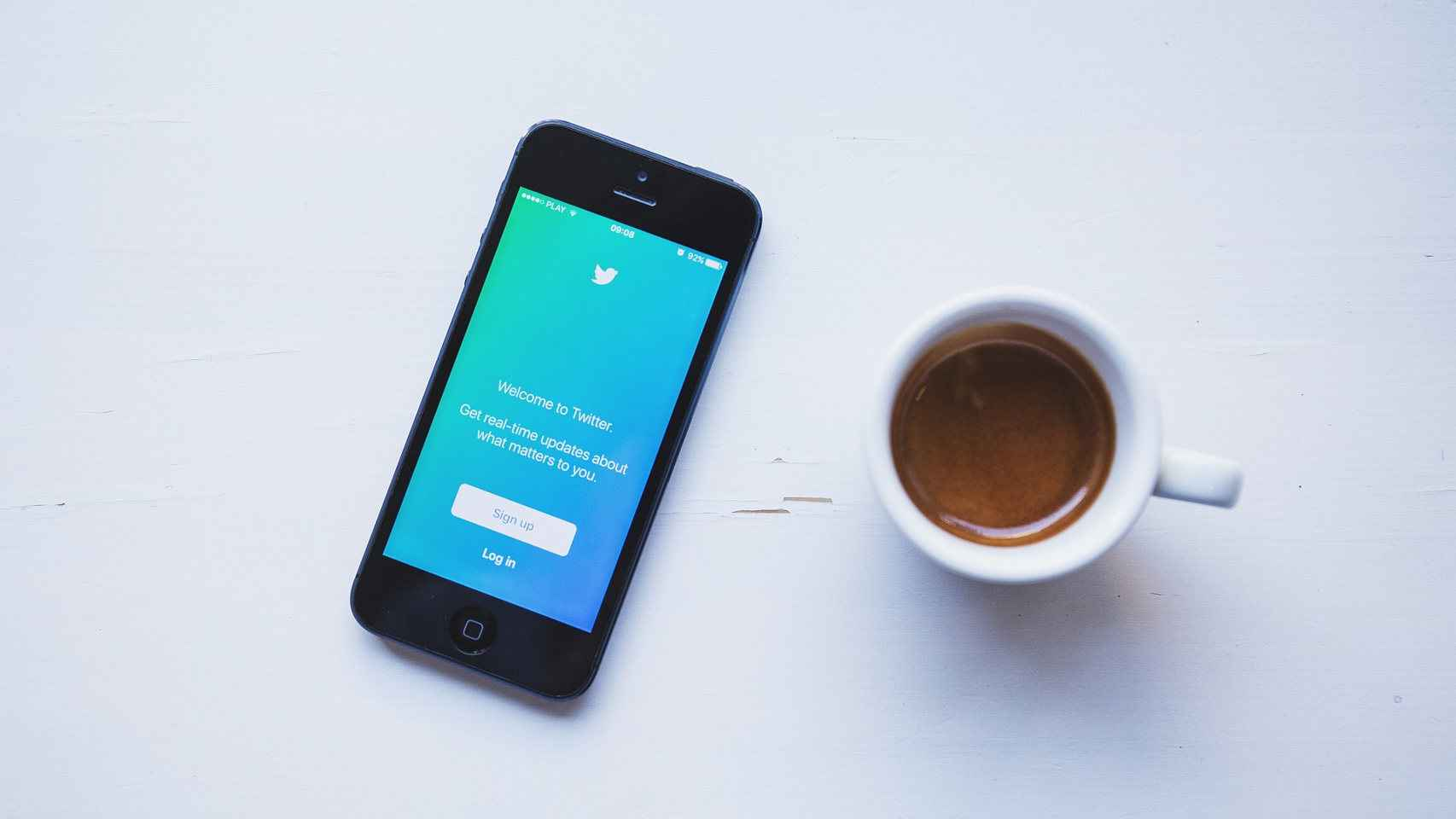 App de Twitter en un iPhone.