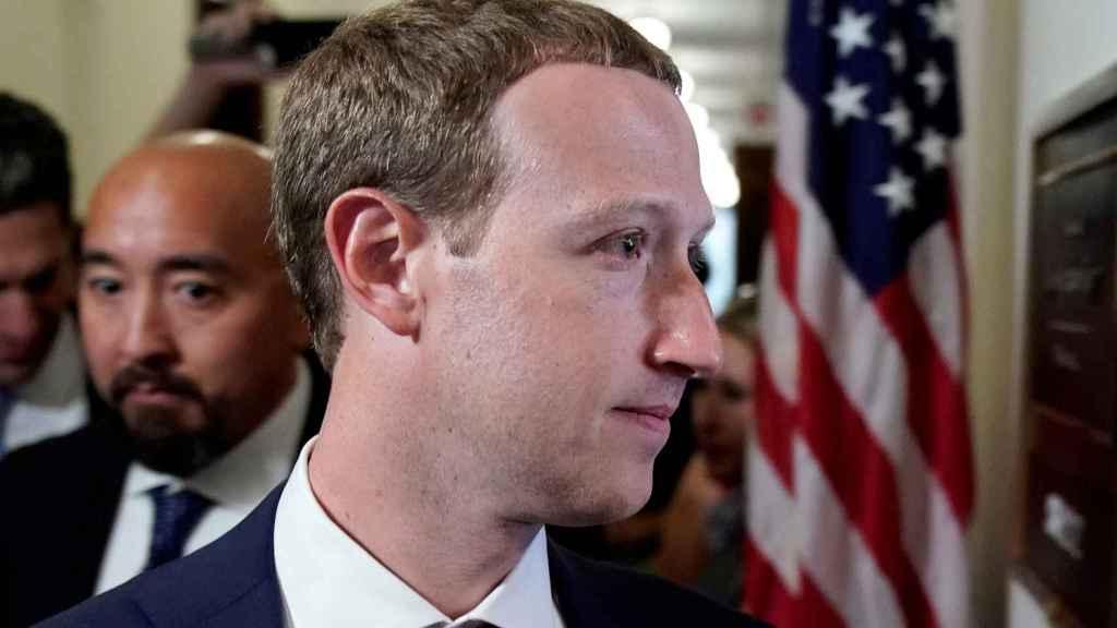 Mark Zuckerberg visita el Capitolio de los EE.UU. durante unas vistas