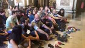 Periodistas protestando.