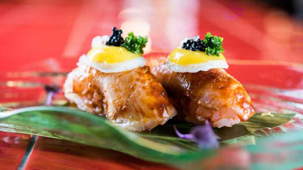 Niguiri anticuchero - Páru Inkas sushi & grill