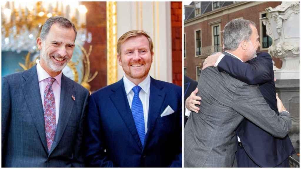 El rey Guillermo de Holanda y el rey Felipe VI en un montaje de JALEOS.