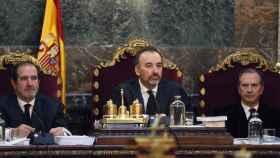 El magistrado del Tribunal Supremo Manuel Marchena durante el juicio del 'procés'
