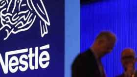 El logo de Nestlé en una imagen de archivo.