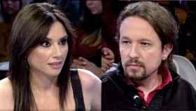 Marta Flich y Pablo Iglesias durante la entrevista del pasado miércoles